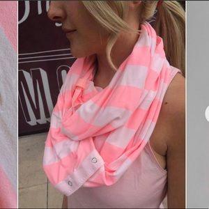 EUC Lululemon Vinyasa Scarf Pink Stripe